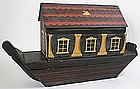 Noah's Ark wooden Christmas toy, German, large size