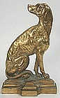 Cast iron door stop of English setter, antique