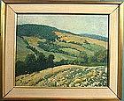 William Starkweather landscape oil painting, American