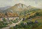 Ward Heys Scottish watercolor painting of farm house