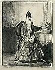 George Bellows original lithograph, Arrangement - Emma
