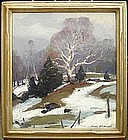 Emile Gruppe oil painting of Vermont Hillside