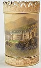 Royal Worcester reticulated scenic vase Holyrood Castle