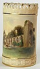 Royal Worcester scenic vase York, St. Mary's Abbey
