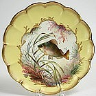 George Jones and Sons hand painted fish plate