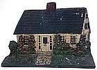 Cape Cod cottage painted cast iron doorstop