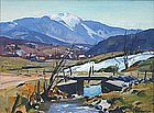 Emile Gruppe painting of Mount Mansfield, Vermont, 1947