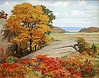 Charles Abel Corwin, American,  autumnal painting