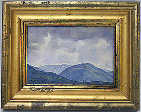 Luigi Lucioni painting, Mt. Equinox, Vermont, signed