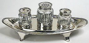 Georgian sterling silver inkstand/ inkwell, Chawner