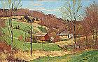 Bernard Corey painting of New England landscape