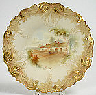 Grainger & Co. Worcester plate, Robert Burns' cottage
