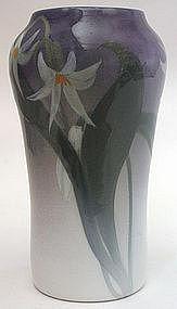 Rookwood Pottery Iris glaze vase by Rose Fechheimer