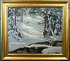Georgia Balch VT landscape painting - Winter Solitude