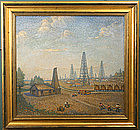 Vincent Maragliotti painting of Drake's oil well