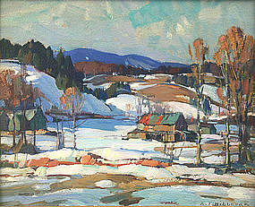 Aldro Hibbard painting - Vermont Valley Farm - Winter