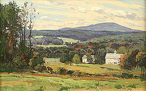Bernard Corey painting of Mt. Wachusett, Mass.