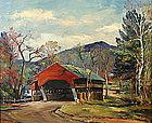Roger Deering painting - Covered Bridge, Jackson, NH