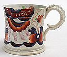Gaudy Welsh Imari pearlware mug