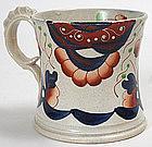 English Gaudy Welsh earthenware mug - Imari design