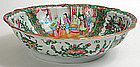 Rose Medallion Chinese export porcelain oval bowl