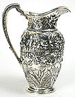 S. Kirk & Son Co. repousse sterling silver pitcher