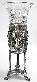 Pairpoint silverplated classical centerpiece vase
