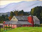 Luigi Lucioni painting of Vermont barn at Mt. Equinox
