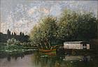 Claude Francois Auguste de Mesgrigny painting of river