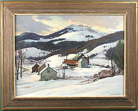 Aldro Hibbard painting - Vermont Valley - Winter