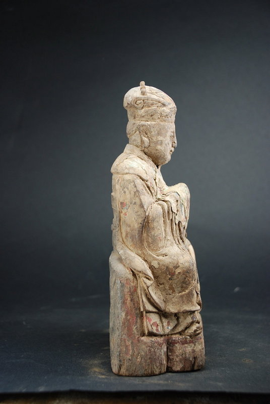 Statue of a Judge in Hell, China, Ming Dynasty