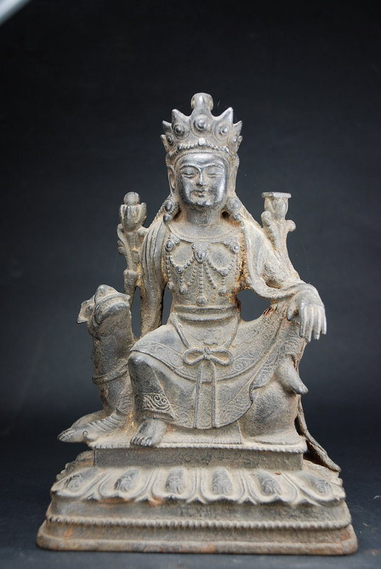 Iron Statue of Manjusri, China, Ming Dynasty