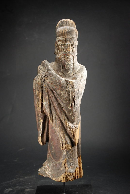 Statue of the Judge of the Souls, China, Early Ming Dynasty