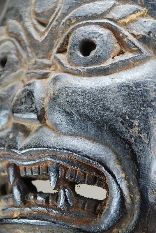 "Rare Small ""Lakhe"" Mask, Himalayas"