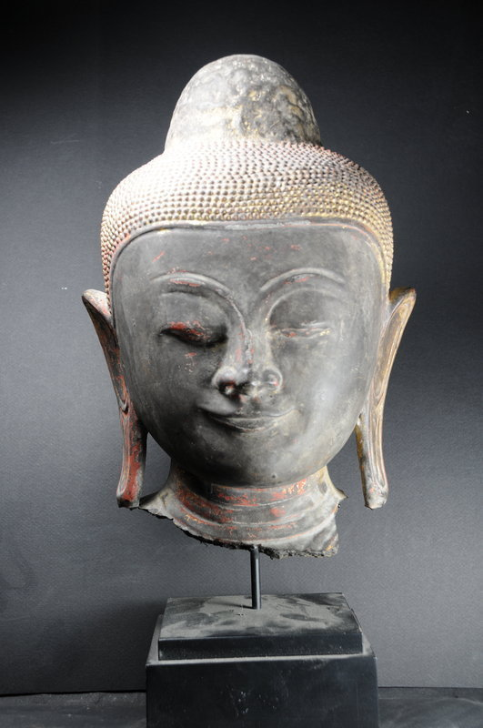 Head of Buddha Burma, Early 19th C.