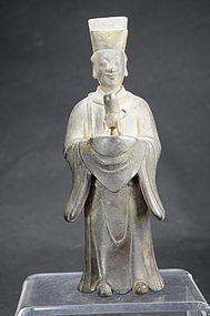 Important Statue of Taoist Dignitary, China, 18th C.