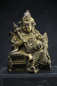Gilt Copper Statue of Kubera, Tibet, 18th C.