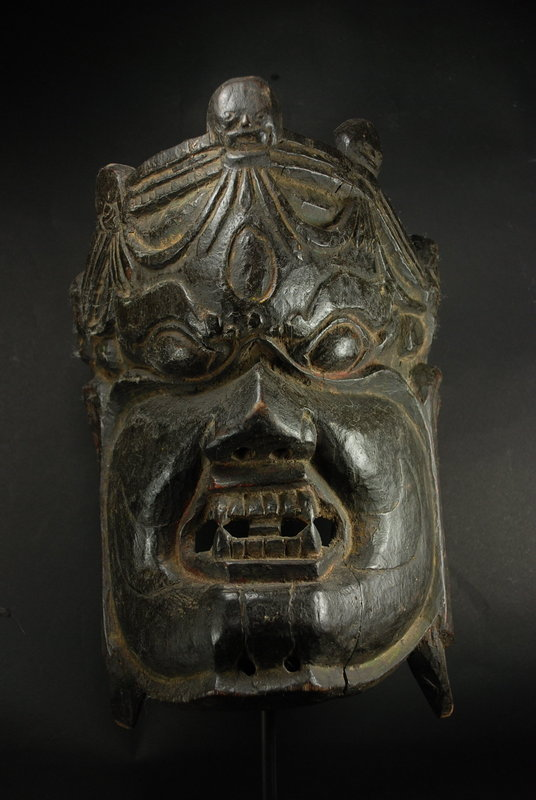 Important Mask of Mahakala, Bhutan or Tibet, 18th C.