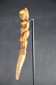 Rare Buffalo Bone Lime Press, Indonesia, Batak Peoples