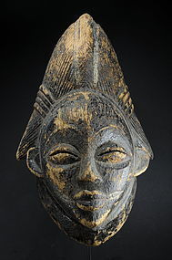"Black ""Tsangui"" Mask, Gabon, Punu Peoples"