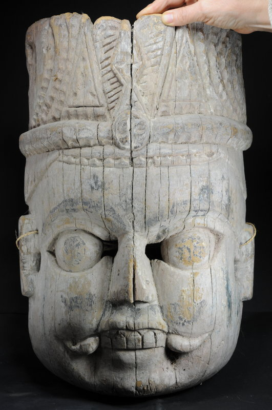 Ancient Bhairava Mask, Nepal, 17th C.