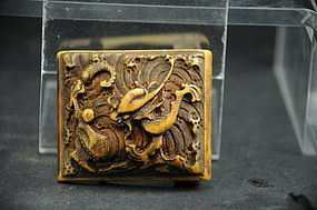 Ivory Belt Buckle # 2, China, Ming Dynasty