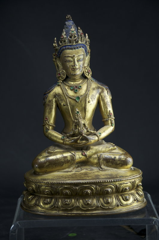 Gilt Bronze Statue of Buddha Amitabha, Tibet, 18th C.