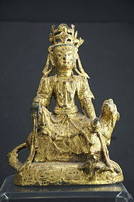 Bronze Statue of Kuan Yin, China, Early Ming Dynasty