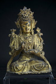 Statue of Manjusri, Tibet, 17th C.
