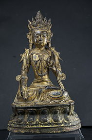 Gilt Bronze Statue of Buddha, Tibet, Ca. 17th C.