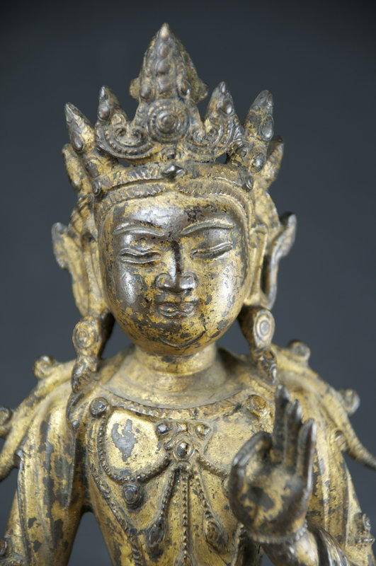 Gilt Bronze Statue of Buddha, Tibet, Ca. 17th C.
