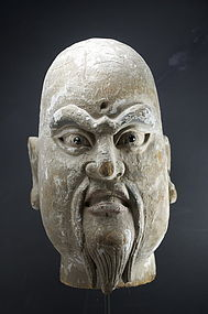 Head of a Lohan, China, 18th C.