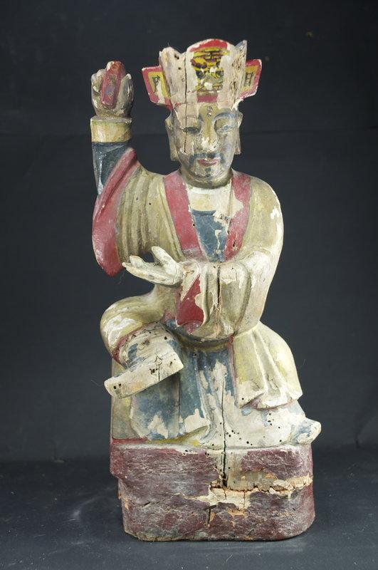 Statue of A Taoist Dignitary, China, 19th C.