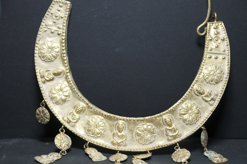 Gilt Silver Buddhist Necklace, 19th C.